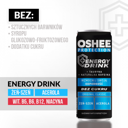 OSHEE PROTECTION Energy Drink, 250ml