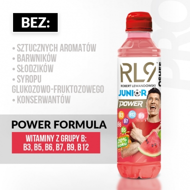RL9 JUNIOR by OSHEE  Vitamin Water jabłkoarbuz, 555ml